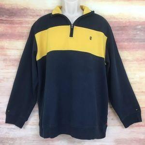 IZOD 1/4 Zip Pullover Sweatshirt Men's XL
